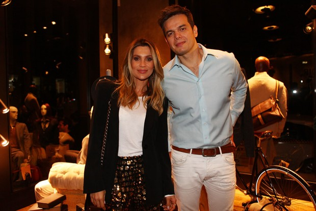 Flávia Alessandra e Otaviano Costa em evento em São Paulo (Foto: Iwi Onodera / EGO)