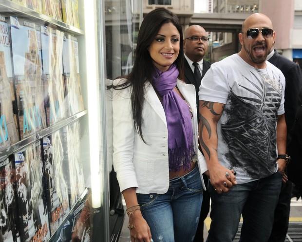 Aline Riscado no lançamento da Playboy em SP (Foto: Francisco Cepeda/AgNews)