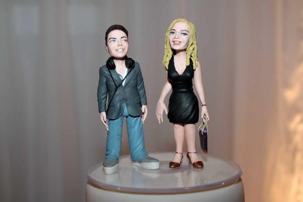 Bonecos de Ronald e Milene Domingues (Foto: Orlando Oliveira/ Ag. News)