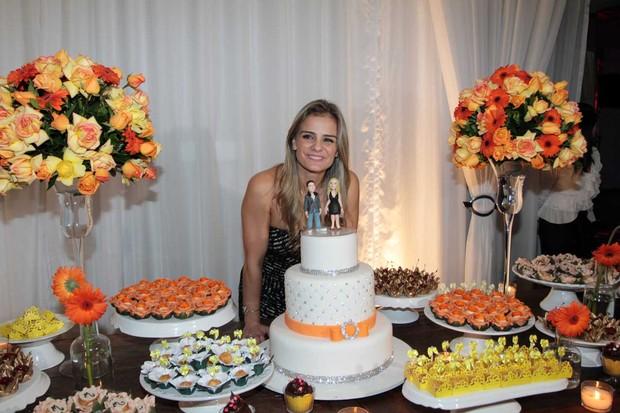 Milene Domingues comemora aniversário em São Paulo (Foto: Orlando Oliveira/ Ag. News)