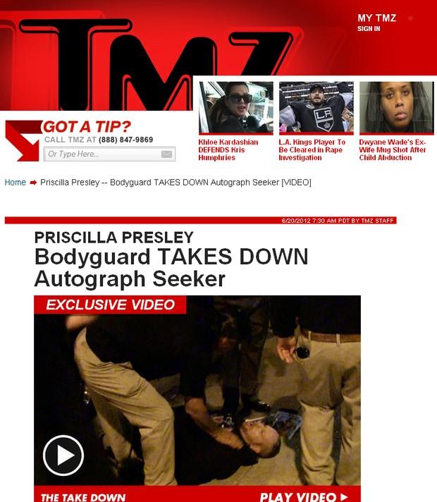 Priscilla Presley (Foto: Reprodução / TMZ.COM)