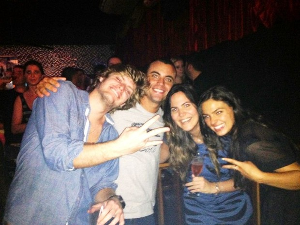 Tom Rezende, Biel Maciel, Carol Sampaio e Isis Valverde (Foto: Reprodução / Instagran)