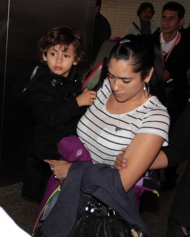 Filho de Jennifer Lopez chega ao Brasil (Foto: Orlando Oliveira / AgNews)