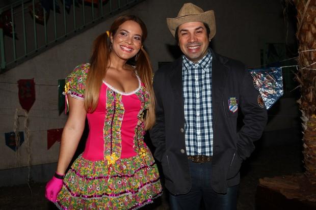 Geisy Arruda na festa junina da ONG Florescer (Foto: Iwi Onodera / EGO)