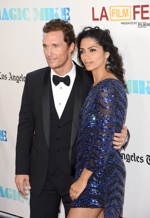 Matthew McConaughey e Camila Alves em première de filme em Los Angeles, nos Estados Unidos (Foto: Getty Images/ Agência)
