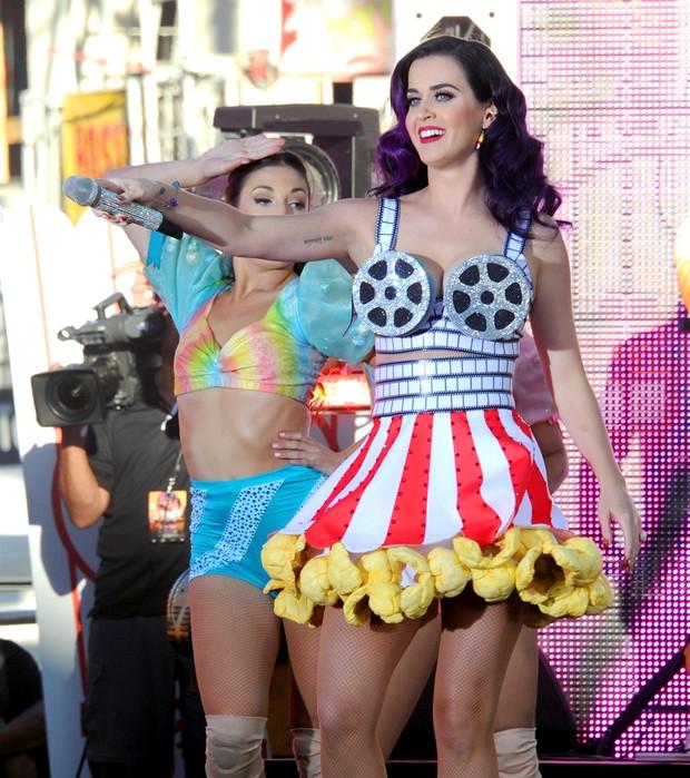 Katy Perry se apresenta na première de seu filme em Los Angeles, os Estados Unidos (Foto: Getty Images/ Agência)