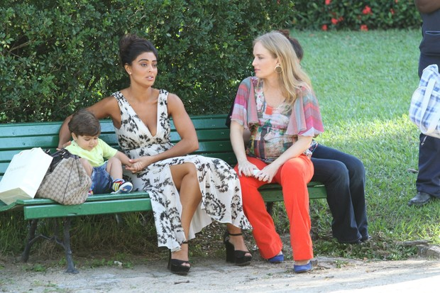 Angelica e Juliana Paes (Foto: Clayton Militão/Fotorio News)