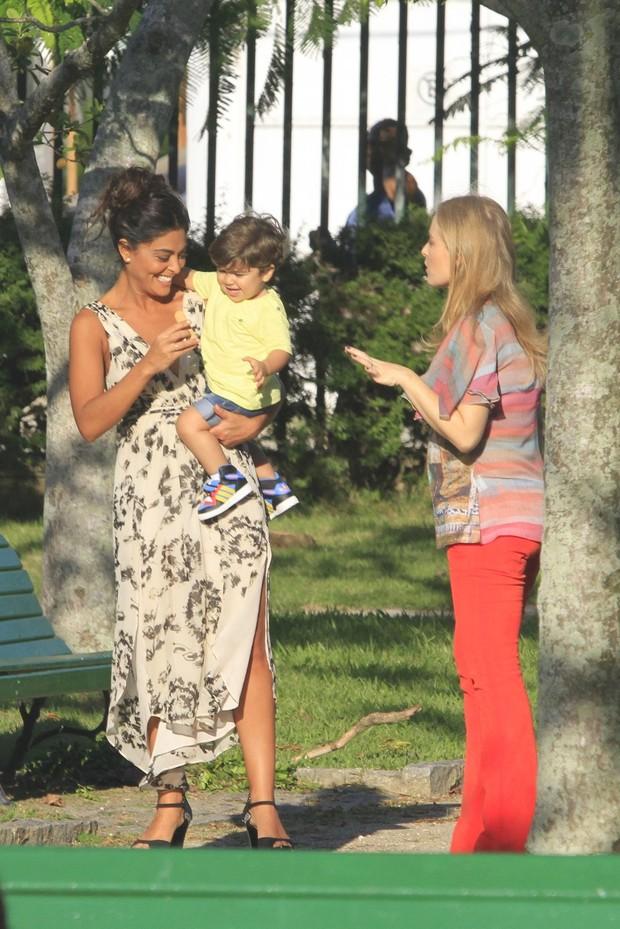 Angélica grava 'Estrelas' com Juliana Paes (Foto: Jeferson Ribeiro / AgNews)