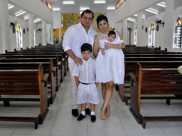 Xand do Aviões do Forró comemora batizado dos filhos em Fortaleza (Foto: Divulgação)