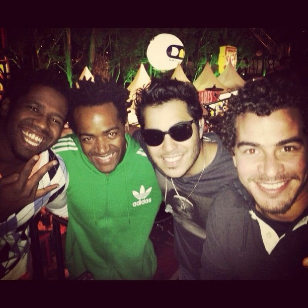 Jhama, Dhum Neves, Tomate e Thiago Martins (Foto: Reprodução /Twitter)