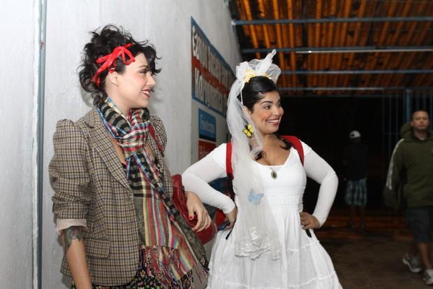 Letícia Persiles e Daniela Fontan em festa no Rio (Foto: Marcello Sá Barretto/ Foto Rio News)