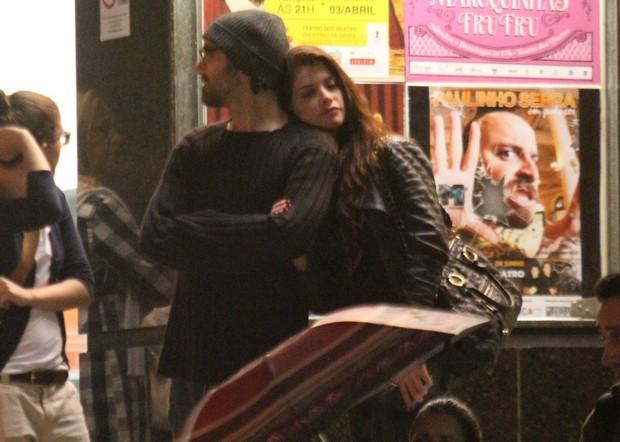 Alinne Moraes e o cineasta Mauro Lima (Foto: Rodrigo dos Anjos / Ag. News)