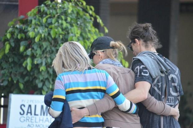 Sharon Stone em Balneário Camboriú (Foto: Paula Martins / AgNews)