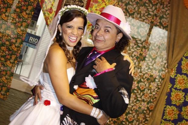 David Brazil e a 'noiva', Renata Santos (Foto: Philippe Lima)