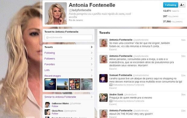 Antônia Fontenelle solta o verbo no Twitter (Foto: Reprodução/Twitter)