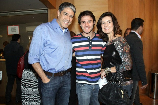 William Bonner, Hugo Bonemer e Fátima Bernardes (Foto: Graça Paes/AGNEWS)