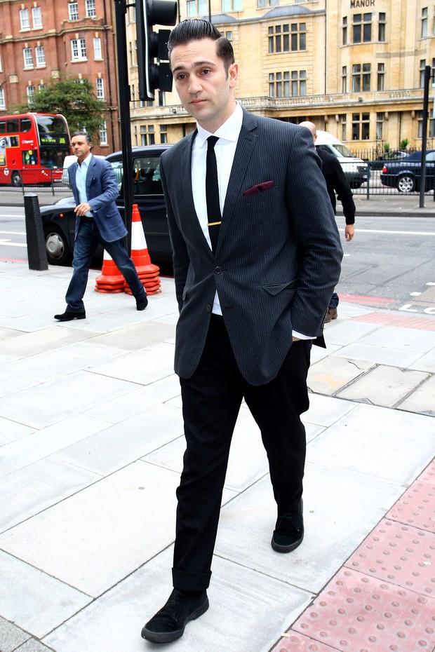Reg Travis, ex-namorado de Amy Winehouse, em Londres (Foto: Getty Images / Agência)
