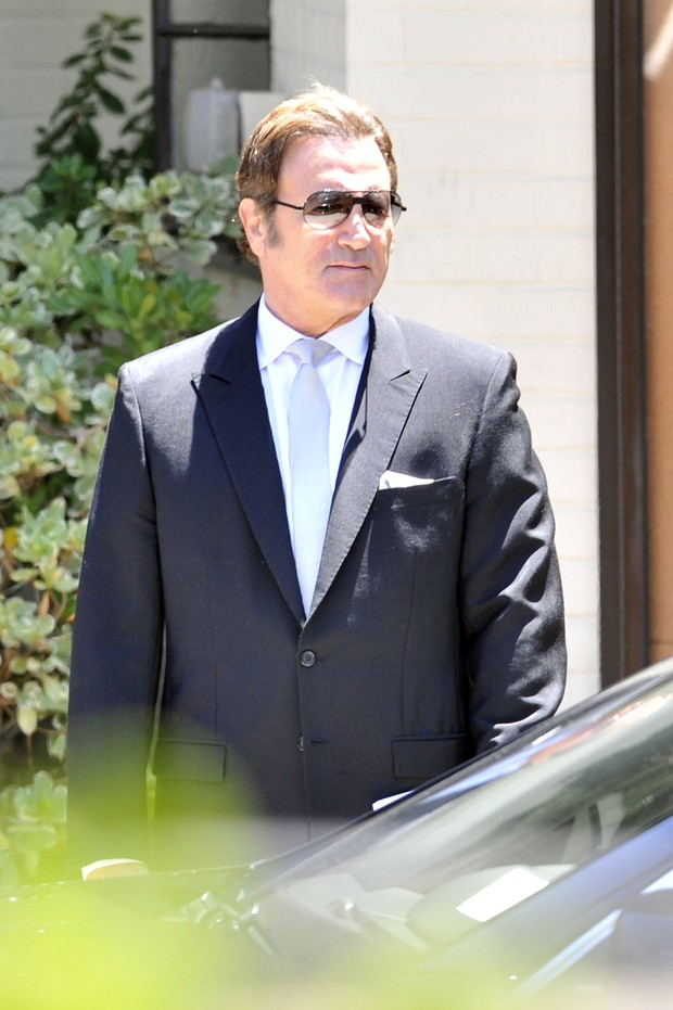 Frank Stallone no funeral de Sage Stallone (Foto: Agência/Getty Images)