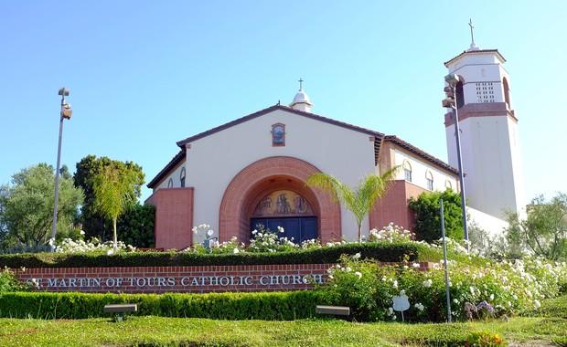 Igreja onde aconteceu velório de Sage Stallone (Foto: Agência/Getty Images)