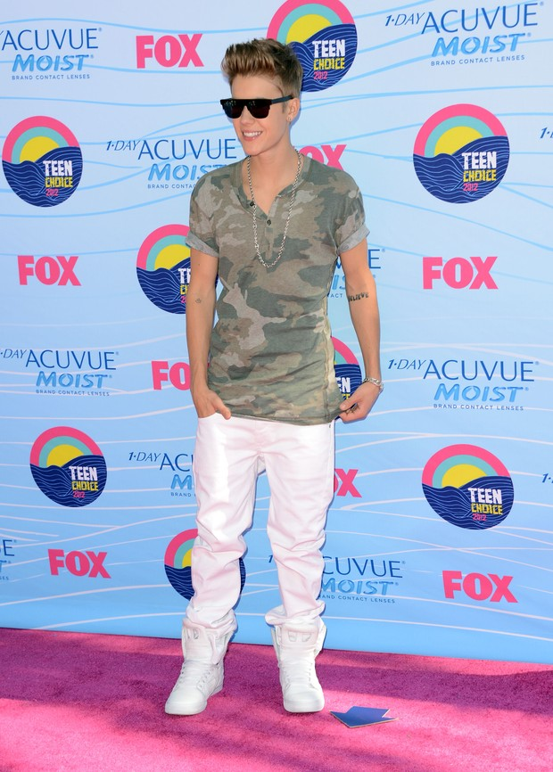 Justin Bieber no Teen Choice Awards (Foto: Agência/Getty Images)