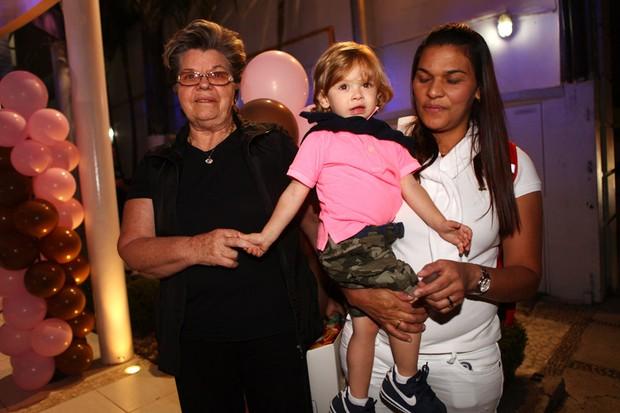 Vittório, no aniversário de Maria Eduarda, filha de Luciele e do jogador Denilson (Foto: Iwi Onodera/ EGO)