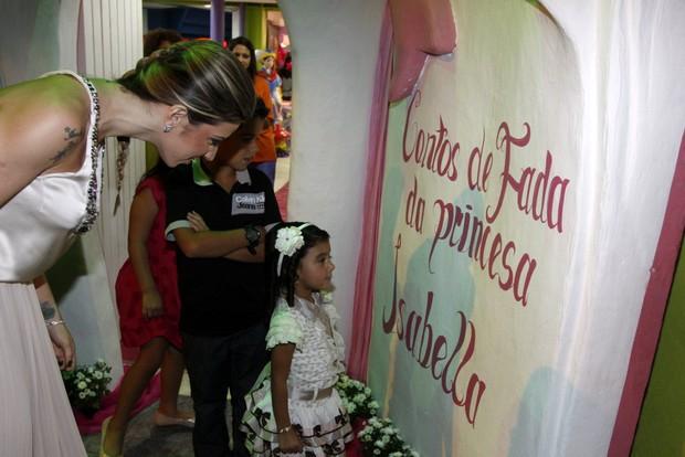 Aniversário de Isabella, filha de Leo Moura (Foto: Felipe Assumpção / AgNews)