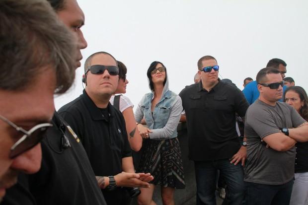 Katy Perry no Cristo Redentor (Foto: Delson Silva e Gabriel Reis / AgNews)