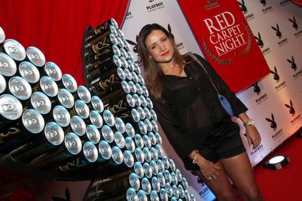 Ex-BBB Natalia Castro em festa no Rio (Foto: Anderson Borde/ Ag. News)