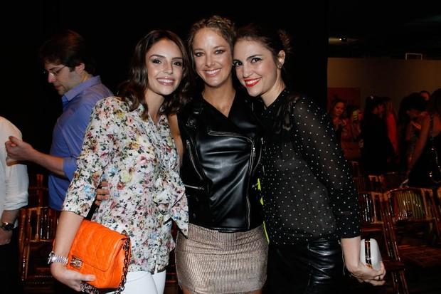 Carol Celico, Ticiane Pinheiro e Cris Flores (Foto: Amauri Nehn/AgNews)