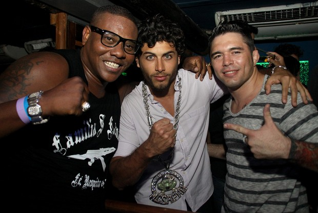 MC Sapao, Jesus Luz e Rony Jason (Foto: Daniel Pinheiro/R2 - Divulgação)