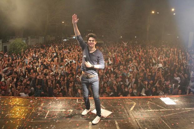 Gabriel Gava em show em Minas Gerais (Foto: Divulgação)