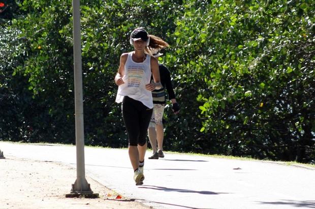 Cynthia Howlett correndo na Lagoa Rodrigo de Freitas, Rio de Janeiro (Foto: J.Humberto / AgNews)