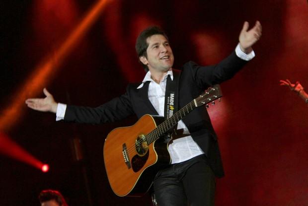 Daniel canta no interior de São Paulo (Foto: Isac Luz / EGO)