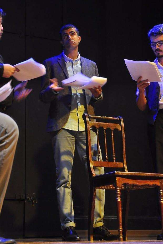 Marcius Melhem na estreia da peça 'O Beijo no Asfalto' (Foto: Roberto Teixeira / EGO)