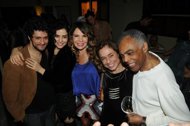 Francisco Alves Pinto, Letícia Sabatella, Elba Ramalho, Cissa Guimarães e Gilberto Gil (Foto: Facebook/ Reprodução)