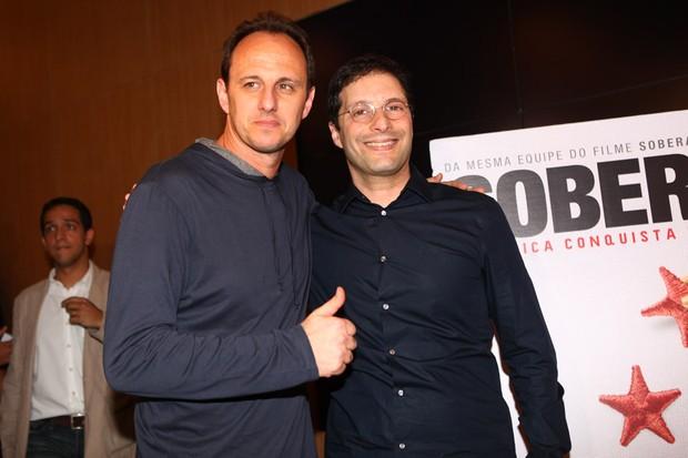 Rogério Ceni e Carlos Nader (Foto: Iwi Onodera / EGO)