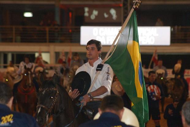 O ex-BBB Fael em Barretos (Foto: Paduardo / Foto Rio News)
