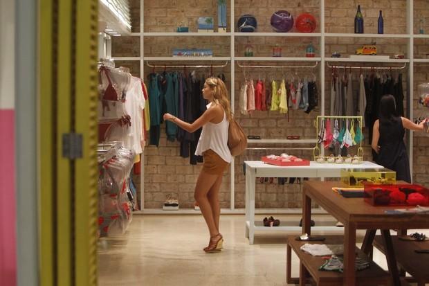 Sophie Charlotte faz compras em shopping do Rio (Foto: Delson Silva / Ag News)