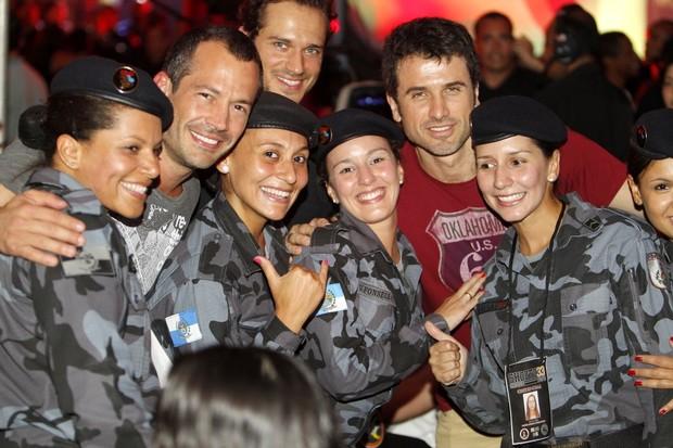 Malcino Salvador, Eriberto Leão e Paulo Rocha no evento de MMA, no Rio (Foto: Leotty Jr/Ag News)