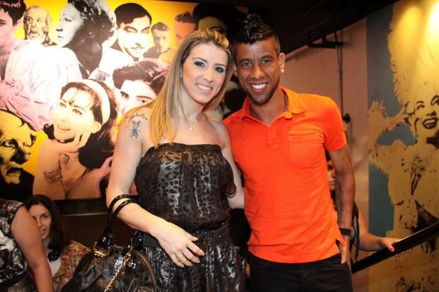 Léo Moura com a mulher, Camila Silva (Foto: Graça Paes/Photorionews)