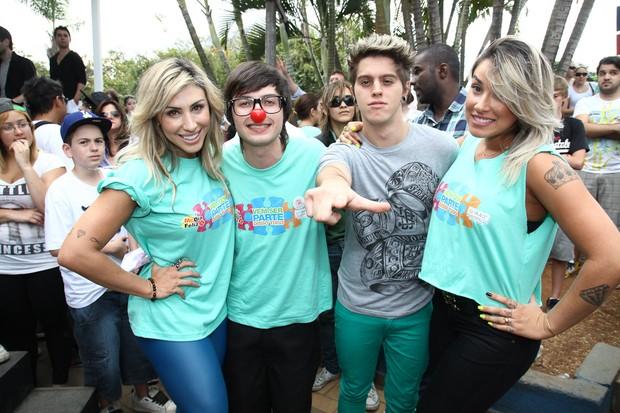 Jaque Khury, Dani Bolina, Pe Lanza e Thomaz (Foto: Manuela Scarpa/Photo Rio News)