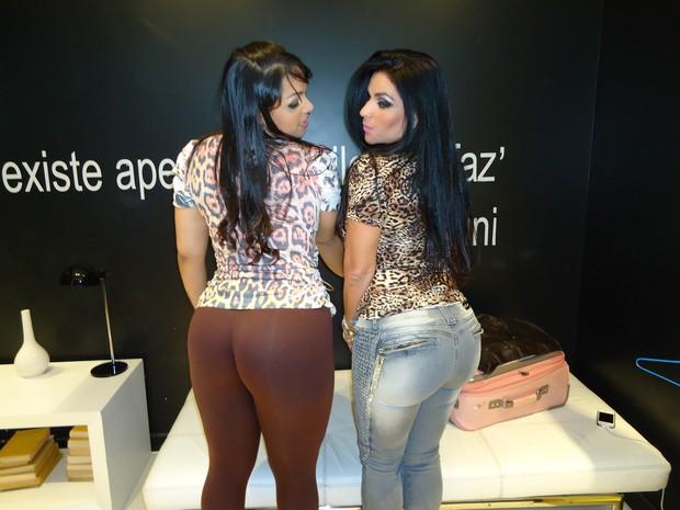 Solange Gomes e Mulher Melancia (Foto: Divulgação)
