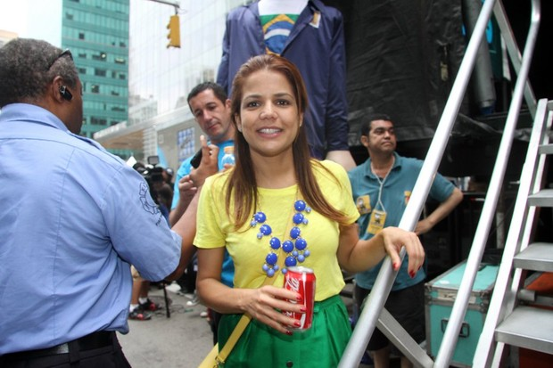 Nívea Stellmann no Brazilian Day em Nova York, nos Estados Unidos (Foto: Edgar de Souza/ Ag. News)