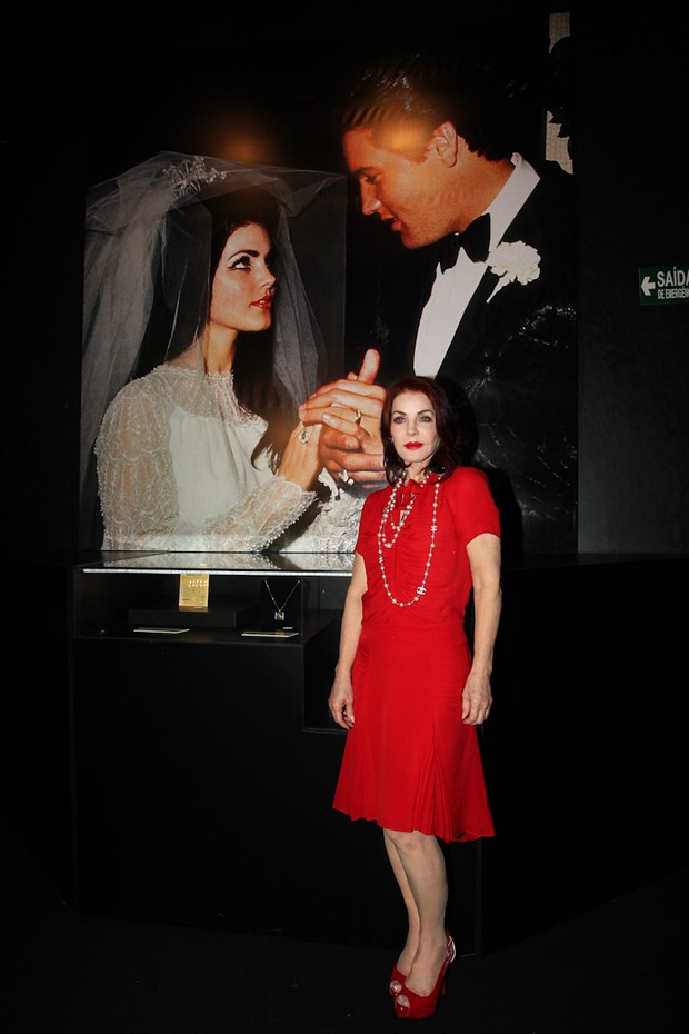 """Atriz americana Priscilla Presley participa de coletiva de imprensa da exposição """"The Elvis Experience"""" em Shopping de SP (Foto: Manuela Scarpa/Foto Rio News)"""