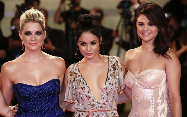 Ashley Benson, Vanessa Hudgens e Selena Gomez na première de 'Spring Breakers' na 69ª do Festival de Cinema de Veneza (Foto: Max Rossi/ Reuters/ Agência)