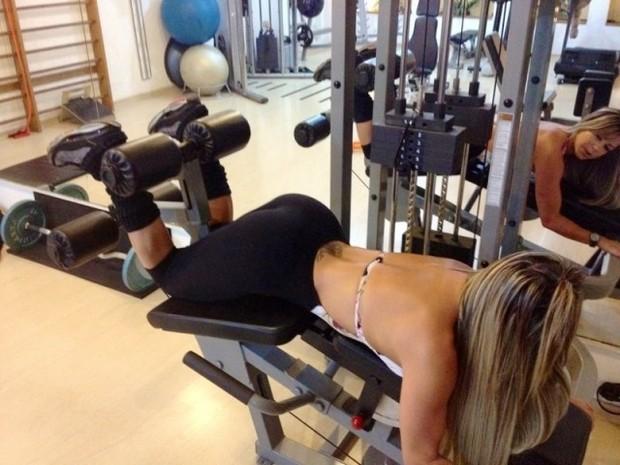 Gil Jung mostra seu treino de musculação (Foto: AG. Famosos/Divulgação)