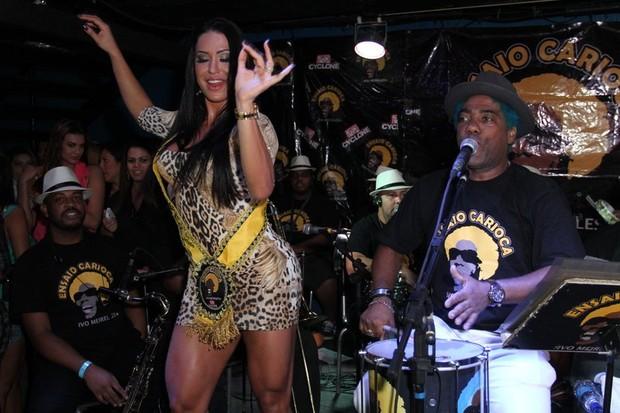 Gracyanne Barbosa com Ivo Meirelles em boate no Rio (Foto: Anderson Borde/ Ag. News)