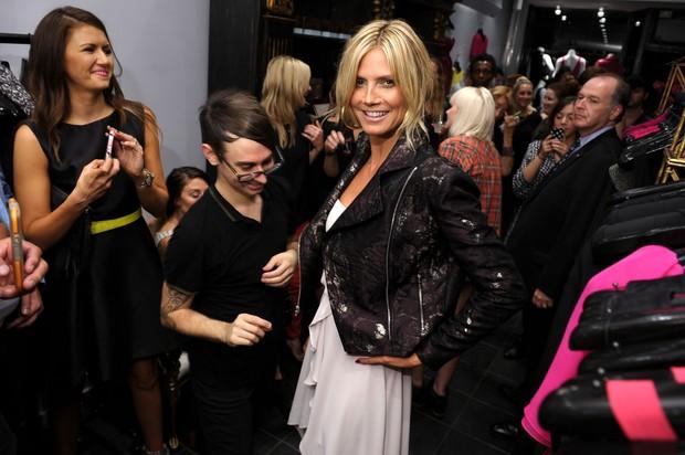 Heidi Klum prestigia inauguração de loja em Nova York, nos Estados Unidos (Foto: Michael Loccisano/ Getty Images/ Agência)