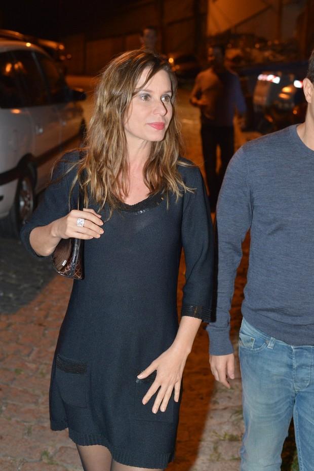 Paula Burlamaqui em festa da cantora Ana Carolina no Rio (Foto: André Muzell/ Ag. News)