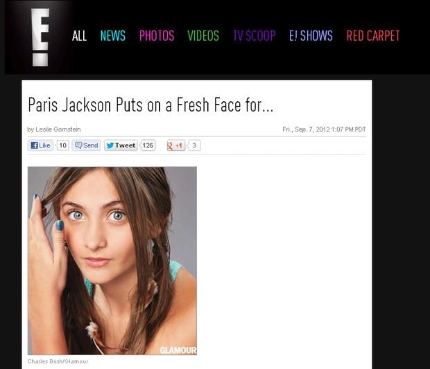 Paris Jackson (Foto: Reprodução / Eonline.com)